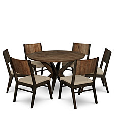 Ashton Round Pedestal Dining Furniture, 7-Pc. Set (Round Pedestal Dining Table & 6 Side Chairs)