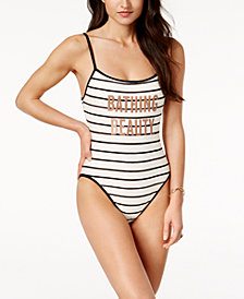 kate spade new york Bathing Beauty Striped Graphic One-Piece Swimsuit