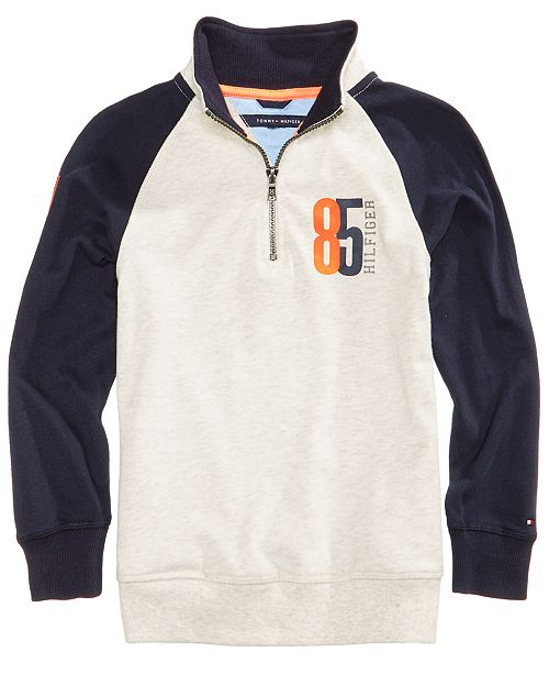 5d995d99 Tommy Hilfiger Half-Zip Raglan Cotton Sweater, Toddler Boys ...