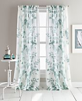 DKNY Landscape Textured Sheer Window Panel Pairs