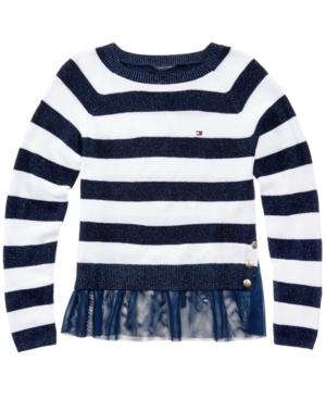 Tommy Hilfiger Glitter Stripe Sweater Big Girls (716)