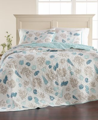 Beach Finds Reversible  100% Cotton Twin Quilt