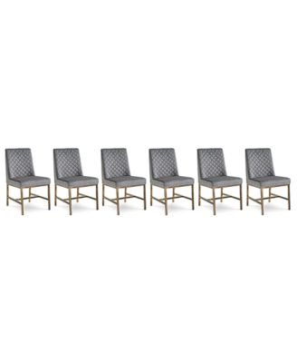 Cambridge Dining Chair 6-Pc. Set (6 Gray Side Chairs)