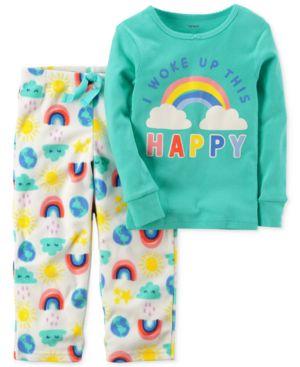 Carter's 2-Pc. Woke Up This Happy Pajama Set, Toddler Girls (2T-5T) 4677556