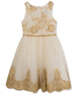 Embroidered Bodice Party Dress, Little Girls, Created for Macy's