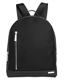 Calvin Klein Men's Saffiano Leather Backpack