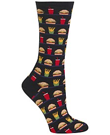 Hot Sox Women's Hamburger, Fries, Drink Socks