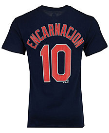 Majestic Men's Edwin Encarnacion Cleveland Indians Official Player T-Shirt