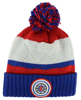 f9c46a6ec50 ... store mitchell ness los angeles clippers quilted hi five knit hat  sports fan shop by lids