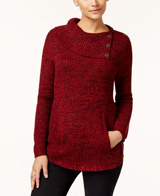 Style Co Envelope Neck Sweater Created For Macys Sweaters