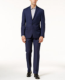 Ryan Seacrest Distinction™ Modern-Fit Navy Birdseye Suit Separates, Created for Macy's