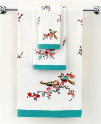 "Simply Fine Bath Towels, Chirp Printed 11"" x 18"" Fingertip Towel"