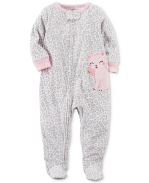 Carters AnimalPrint Cat Footed Pajamas Baby Girls (024 months)