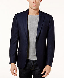 CLOSEOUT! Calvin Klein Men's Slim-Fit Navy Birdseye Soft Jacket