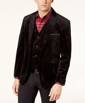 Alfani Men's Velvet Two-Button Blazer, Created for Macy's ...