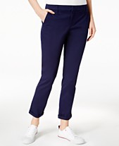 d4a479a6 Tommy Hilfiger Cuffed Chino Straight-Leg Pants, Created for Macy's