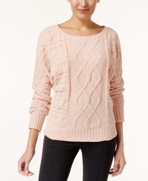 Marled Chenille Cable-Knit...