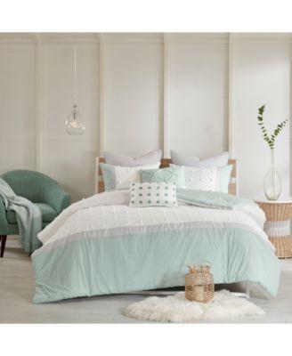 Myla Cotton 7-Pc. Reversible Full/Queen Comforter Set