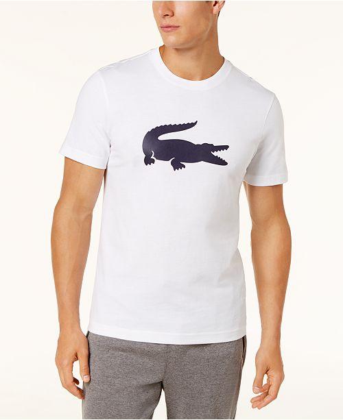 a84d8b62 Lacoste Men's Tonal Crocodile Graphic-Print T-Shirt & Reviews - T ...