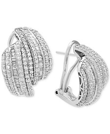 Diamond Drop Earrings (2 ct. t.w.) in Sterling Silver, Created for Macy's