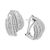 Wrapped in Love Diamond Drop Earrings in Sterling Silver