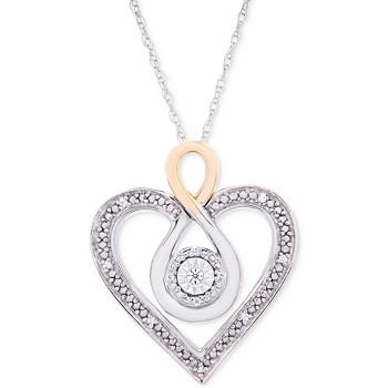 Macy's Diamond Two-Tone Heart 18