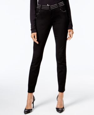 I.n.c. Curvy-Fit Studded White Skinny Jeans, Created for Macy's 5854951