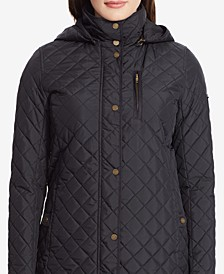Plus Size Faux Suede-Trim Quilted Jacket, Created for Macy's