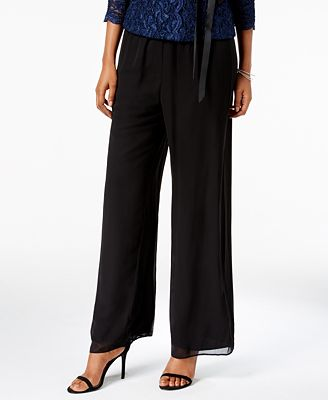Alex Evenings Petite Chiffon Palazzo Pants $69