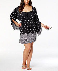 Dotti Plus Size Gypsy Dancer Printed Cover-Up Tunic