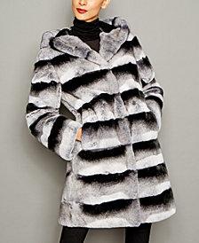 The Fur Vault Rex Rabbit Fur Coat