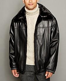 Reversible Mink Fur Leather Bomber Jacket