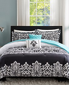 Leona 5-Pc. Reversible Full/Queen Comforter Set