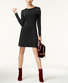MICHAEL Michael Kors Petite Grommet Lace-Up Dress