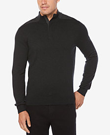 Perry Ellis Men's Quarter-Zip Sweater