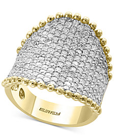 D'Oro by EFFY® Diamond Pavé Cluster Ring (2-1/2 ct. t.w.) in 14k Gold
