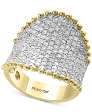 D'Oro by Effy Diamond Pave Cluster Ring (2-1/2 ct. t.w.) in 14k Gold -  Effy Collection