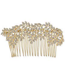 I.N.C. Gold-Tone Pavé Vine Hair Comb, Created for Macy's