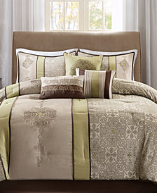 Madison Park Donovan 7-Pc. Medallion Jacquard Comforter Set Collection