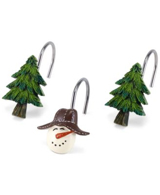 Snowman Gathering Shower Hooks