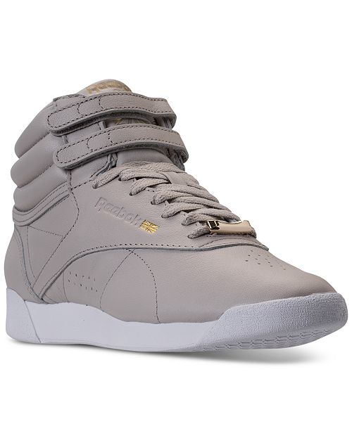 97e6d862708 ... Reebok Women s Freestyle Hi Top Muted Casual Sneakers from Finish ...