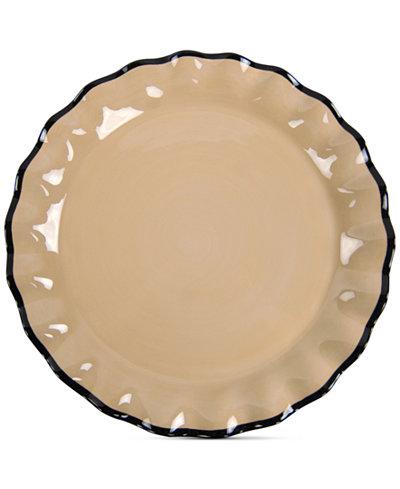 Coton Colors Cobble Midcentury Mix Ruffle Round Platter