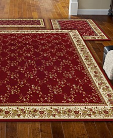 Roma Trellis Red 3-Pc. Rug Set