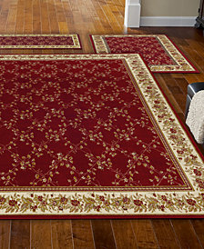 KM Home Roma Trellis Red 3-Pc. Rug Set