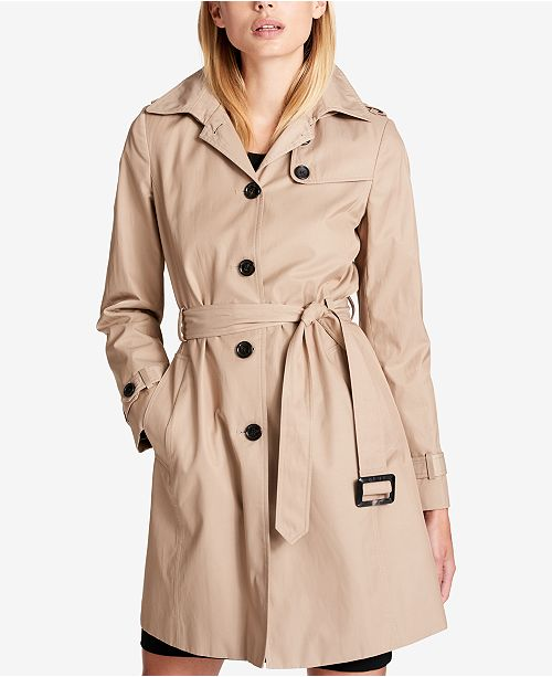 8bbaaa0e537 DKNY Trench Coat   Reviews - Coats - Women - Macy s