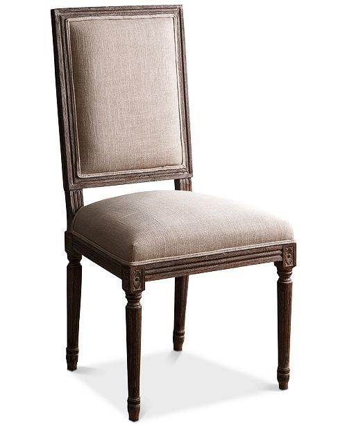 Abbyson Living CLOSEOUT! Gabriella Rectangle Back Dining Chair, Quick Ship