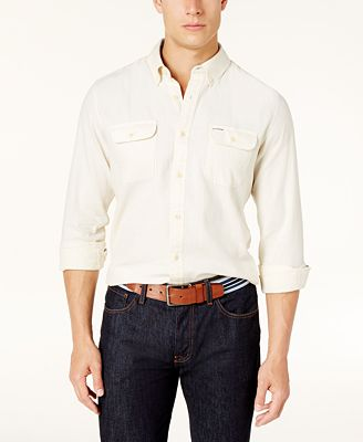 Tommy Hilfiger Men's Custom-Fit Ben Flannel Shirt, Created for Macy's