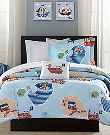 Mi Zone Kids Ahoy Matey 8-Pc. Reversible Full Comforter Set