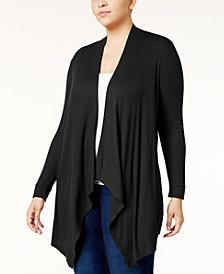 I.N.C. Plus Size Draped Cardigan, Created for Macy's
