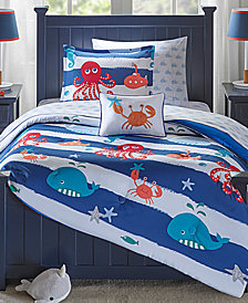 Mi Zone Kids Sealife 8-Pc. Reversible Full Comforter Set
